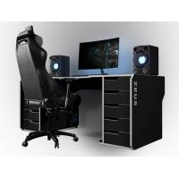 Геймерский эргономичный стол ZEUS™ Viking-1S, 160х85 (80) см, черный/белый