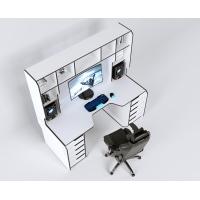 Геймерский эргономичный стол ZEUS™ Viking-3М, 180х85 (80) см, белый/черный